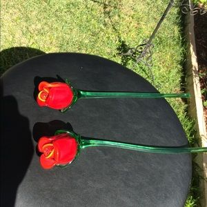Other - Red Roses Hand Blown